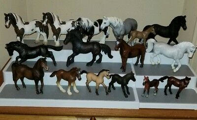 Lot Of 15 Schleich Horse Painted  Clydesdale Stallion 8 Appaloosa 23 total lot