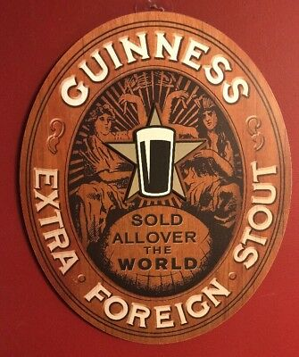 """Guinness Beer Wall Sign Brand New! EXTRA FOREIGN STOUT 19""""x15.5"""""""