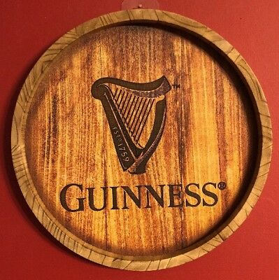 """Guinness Beer Barrel Wall Sign Brand New! 13.75"""""""