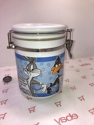 Looney Tunes Coffee Canister Bugs Bunny Taz Warner Brothers Studio Store RARE
