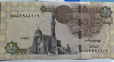 2017 Egypt ONE 1 Pound p-70  UNC AND CRISP FIVE 5 Banknotes