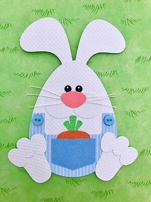 Easter Bunny fully assembled paper piecing / die cut