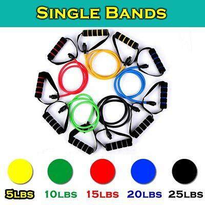Resistance Bands Gym Exercise Tubes Heavy Fitness Home Yoga Workout Woman & Men