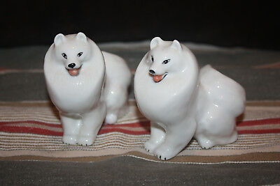 Samoyed Dogs Porcelain Figurines made in Russia