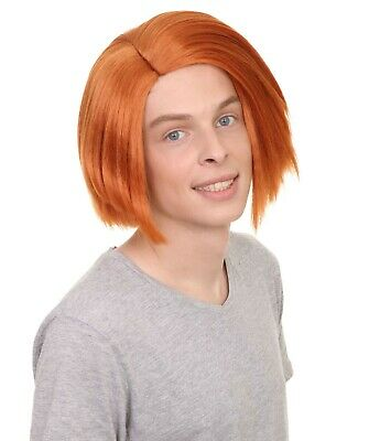 Orange Straight Wig for Cosplay Curse of Chucky Party Fancy Dress Hair HM-180