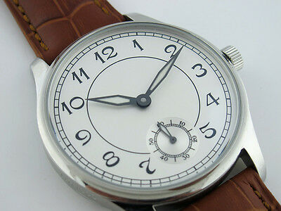 44mm Parnis Hand Winding Men's Casual Watch Stainless Steel Case White Dial Gift