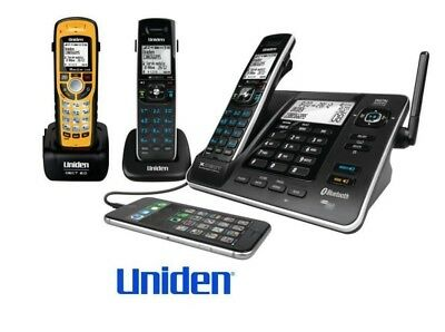 UNIDEN XDECT 8355+2wp TRIPLE 3 HANDSET CORDLESS TELEPHONE SYSTEM+ANSWER MACHINE