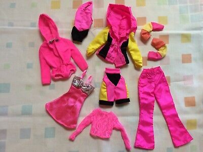 Barbie Clothes Dresses 80s 90s Shirts Dresses Fashion Clothing Mattel Vtg PINK