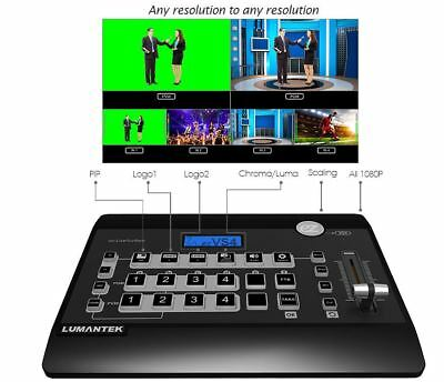 Lumantek 4Ch Full-HD Video Switcher ez-PRO VS4 Internal scalers for SD,HD,FullHD