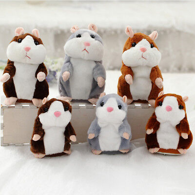Talking Hamster Electronic Plush Toy Mouse Pet Speak Sound Record Walk Nod Head