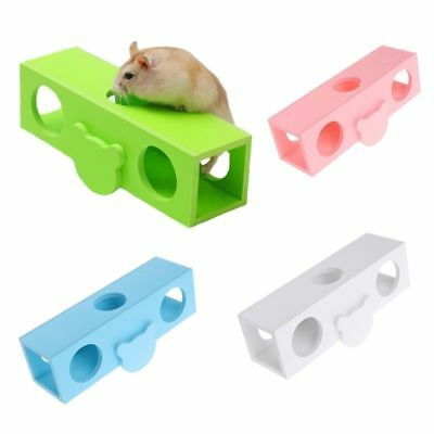 Wooden Pet Supplies Hamster Exercise Toy Seesaw Sport Cage HouseTunnel Tube
