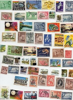 GHANA Stamps 80 All Different Off Paper