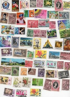 MALAYSIA Stamps 135 All Fifferent - Off Paper