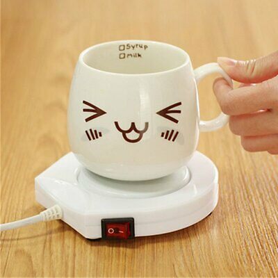 220V Electric Powered Drink Cup Warmer Pad Coffee Tea Milk Drink Mug Heater Tray
