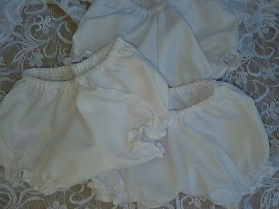 3 x White Undies for My Child Doll or Similar Sized Doll.
