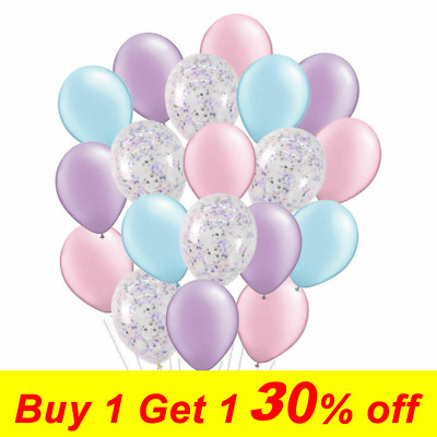 20PCS Unicorn Latex Confetti Balloons Wedding Birthday Party Helium Air Purple