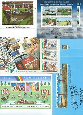 NORFOLK ISLAND - 13x Mini-Sheets with MINT Stamps