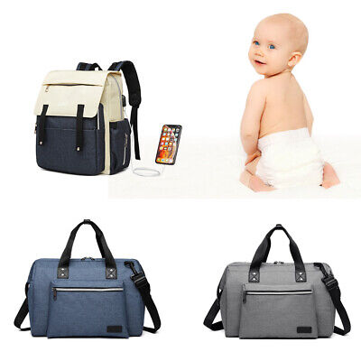 Large Multi-function Unisex Messenger Bag Baby Nappy Mummy Changing Bag