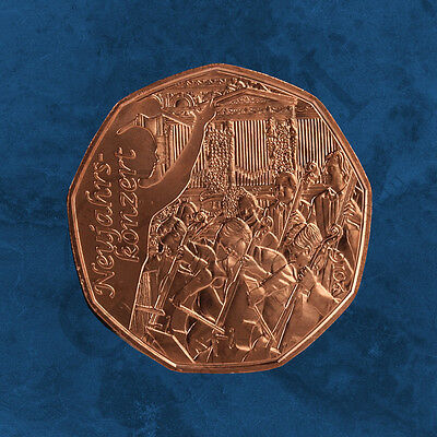 Austria - New Year - New Year's Concert - 5 Uncirculated Copper