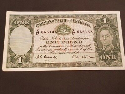 COMMONWEALTH of AUSTRALIA - ONE POUND NOTE - Signed by COOMBS/WILSON