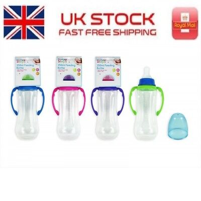 First Step Gripper Baby Feeding Bottle Juice Milk 250ml /90z BPA FREE