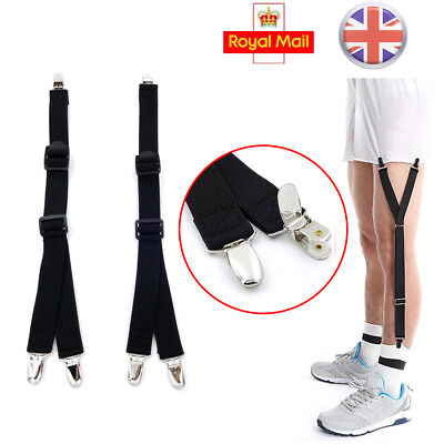 Y Style Men Elastic Band Garters Non slip Socks Shirt Stays Holder Suspender ZY