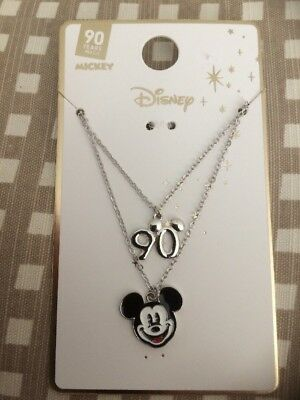 New Disney Pack Of 2 MICKEY MOUSE 90 Years Of Magic  Primark Necklaces