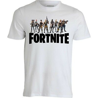T-shirt maglietta personaggi Fortnite Epic Games Battle Royale Cotone 100%