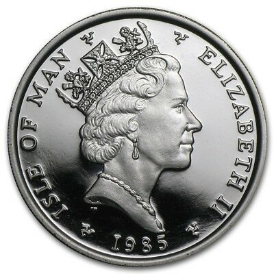 1985 Isle of Man 1 oz Proof Platinum Noble.. Mintage of only 3,000!!