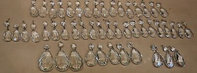 49 Assorted Teardrop Chandelier Crystals