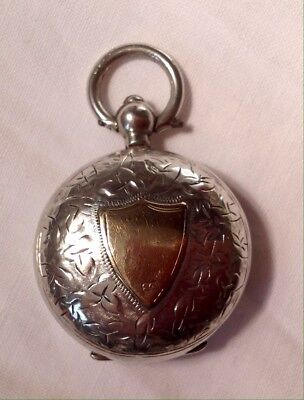 1910 Birmingham Fully Hallmarked Solid Silver & 9ct Gold Sovereign Case