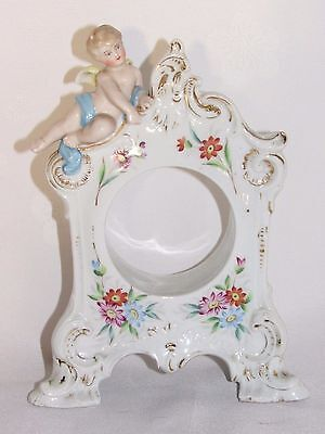 ANTIQUE PARTS CLOCK clock PORCELAIN GERMAN OR PARIS ANGEL late nineteenth