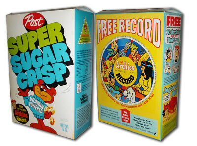 Post  SUPER SUGAR CRISP Cereal Box ARCHIES Record