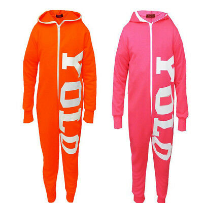 """80% OFF GIRLS KIDS Fluorescent YOLO """"You Only Live Once"""" Jumpsuit CHILDREN"""