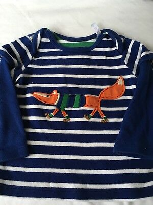 Baby boy Joules Long sleeve Fox top 3-6mth