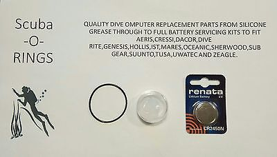 Premium Battery replacement kit for suunto D6 dive computer +free grease