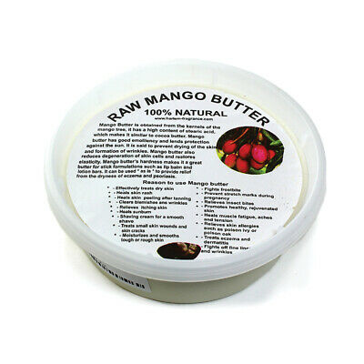 100% Pure Certified Organic Mango Butter -Natural-Premium Quality-100g