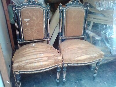 Antique chairs. Pair. Very rare Victorian dining chairs.