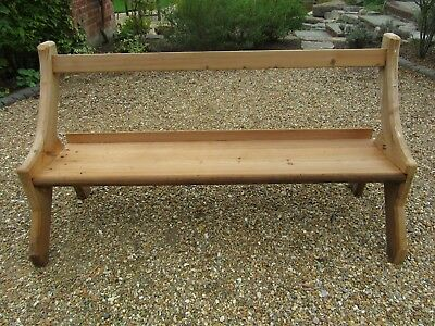 """64"""" STRIPPED PINE CHURCH PEW. Delivery possible. BENCHES, PEWS & TABLES FOR SALE"""