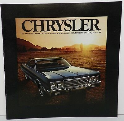 1973 Town New Yorker Newport Dealership Showroom Chrysler Brochure Mopar Dealer