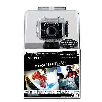 Nilox Foolish Special Waterpoof HD Action Camera (8MP) FULL HD 1080 Remote