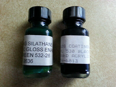 Byers Choice Green & Black Paint s/2 ~ for Touching up chips on bases, shoes etc