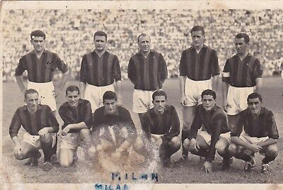 Calcio/Football Cartolina sq. MILAN 1950 con BUFFON originale