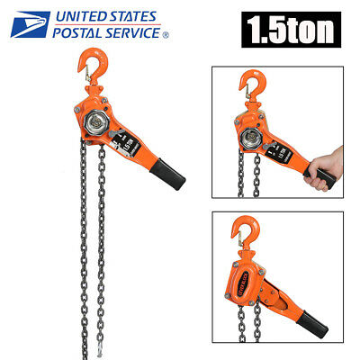 1-1/2 Ton Lever Block Hoist Chain Ratchet Come Along Chain Hoist