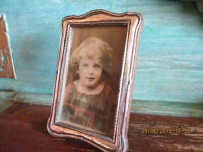 Pretty Art Deco Solid Silver Photo Frame 1920/21