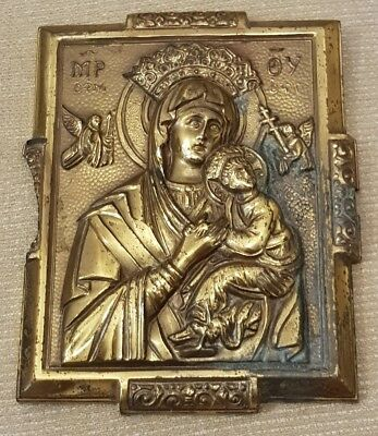 ANTIQUE RARE OLD 16th CENTURY RELIGIOUS CATHEDRAL CHURCH RELIC MARY JESUS CHRIST