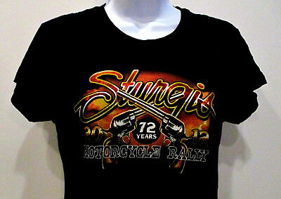 STURGIS 2012 Motorcycle Rally Black T Shirt Pistols Skeleton XL S M L Harley