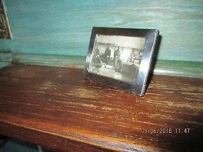Antique Solid Silver Travelling Photo Frame Birmingham 1918?