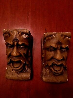 Antique Salvaged Gargoyles, Just Beautiful.  True Works Of Art.  Made of Stone,
