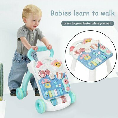 2020 NEW Baby Walker 4 in 1First Steps Push Along Bouncer Activity Ride On Car
